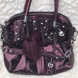 Coach Kristin Boysenberry metallic studded Bag